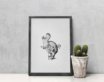 Wall Art - Art Print - Home Decor - Nursery Decor - Vintage Illustration - Alice in Wonderland - Dodo
