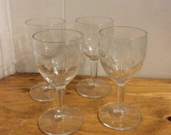 4 Lovely Sherry Glasses
