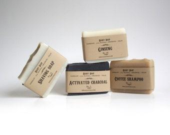 Soap gift for Men, soap set, men gift set, gift for men, all Natural soap, vegan soap, unscented soap, mens soap gift set,Handmade Soap
