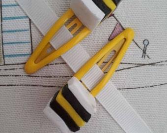 Yellow Liquorice Allsorts Hairslide