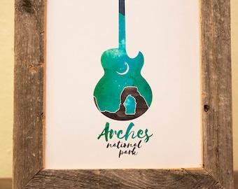 Arches National Park Guitar Print
