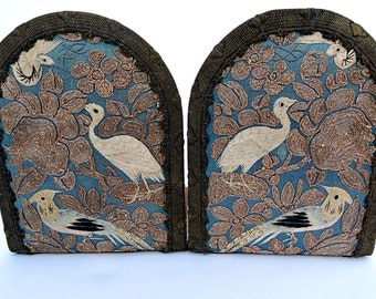 Bookends Oriental Embroidered Bookends Asian Bohemian Desk Book Holders