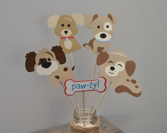 Puppy Party Center Piece, Puppy Birthday Party Decorations, Puppy Party Decor, Puppy Pawty
