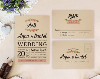 backyard wedding invitation | etsy, Wedding invitations
