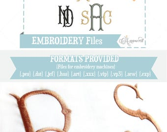 4 sizes Fancy Fishtail Embroidery Alphabet/ Files for Embroidery Machines / Fishtail Embroidery Font / BX files Fish tail font