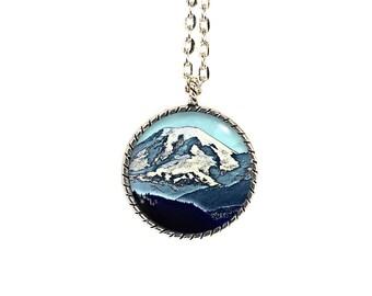 Rainier, Pacific Northwest, Mt Rainier, Mountain Necklace, Mount Rainier Art, Mountain Jewelry, Mount Rainier, Washington, Seattle, Nature