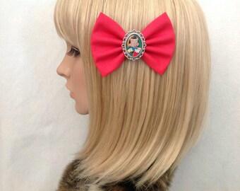 Pinocchio hair bow clip rockabilly psychobilly disney princess kawaii pin up fabric gepetto jiminy cricket cute ladies girls women