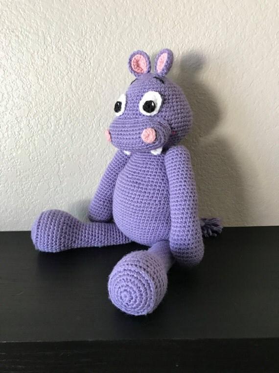Amigurumi Stuffed Animals : Stuffed Hippo / Plush Toy / Crochet Amigurumi Hippo / Stuffed