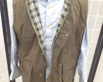 Waxed Cotton Vest; Water Resistant Shooting Vest