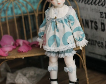 Polar bear, Clothes for MSD/Rosenlied holiday / YOSD in 2 colors (BJD)