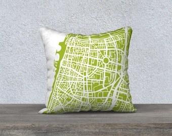 Tel Aviv Map Pillow Cover