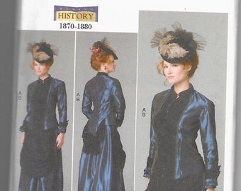 B6305 Butterick 19th Century Costume Sewing Pattern Sizes 16-18-20-22-24 Does Not Make Hat