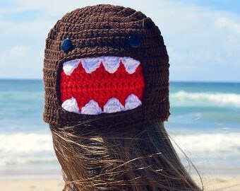 Domo -Inspired Character Crochet Hat