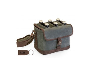 Canvas Beer Caddy - Great Gift for the Craft Beer Lover -Father's Day, Wedding Parties; Groomsman Gifts