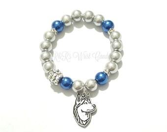 University of Connecticut, Uconn Huskies, Womens Basketball, College Football, Huskies, Stretchy, Handmade Custom Beaded Jewelry