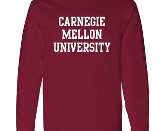 Carnegie Mellon University Scotties Basic Block Long Sleeve T Shirt