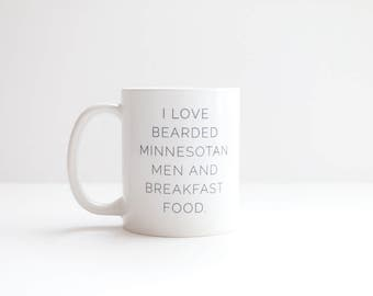 Bearded Minnesotan Men Mug, Minnesota Mug