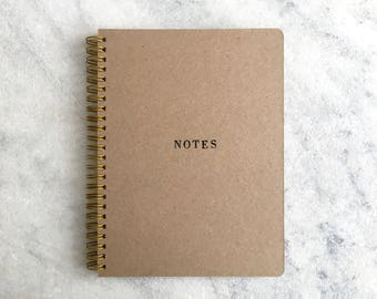 Blank Journal, kraft notebook, diary, bullet journal