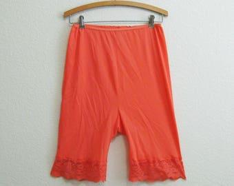 Orange Bloomers Medium Wide Lace Hem - Pam Undies