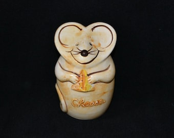 Vintage Ceramic Mouse Cheese Jar