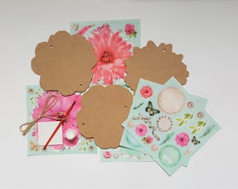 Bunting kit etsy diy wooden banner make your own wooden flower bunting do it yourself kit solutioingenieria Image collections