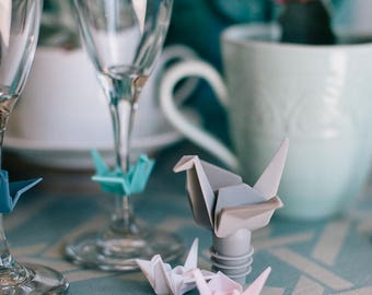 Origami Drink Charms & Wine Topper