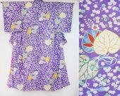 Japanese silk kimono purp...