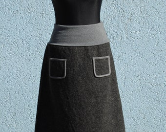 Walking rock anthracite/grey wool winter skirt women's skirt wool women wool skirt winter skirt