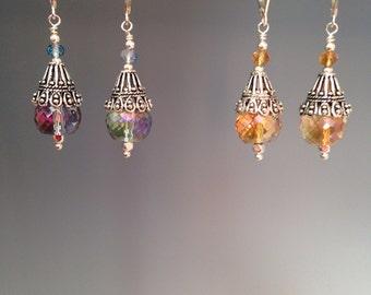 """Art Deco earrings, Swarovski earrings, Art Deco jewelry, Crystal earrings, Crystal jewelry - gift idea, artisan jewelry, Deco crystal drops"""""""