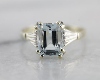Timeless Aquamarine Ring in The Hannah Setting by Elizabeth Henry 7TQWU7-D