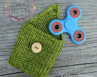 Fidget Spinner Case KNITTING PATTERN - Hand Spinner Cozy Knitting Pattern - Fidget Spinner Cozy Pattern - Hand Spinner Case Knitting Pattern