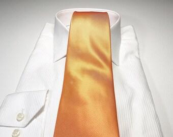 Bellini Orange Tonal Solid Tie