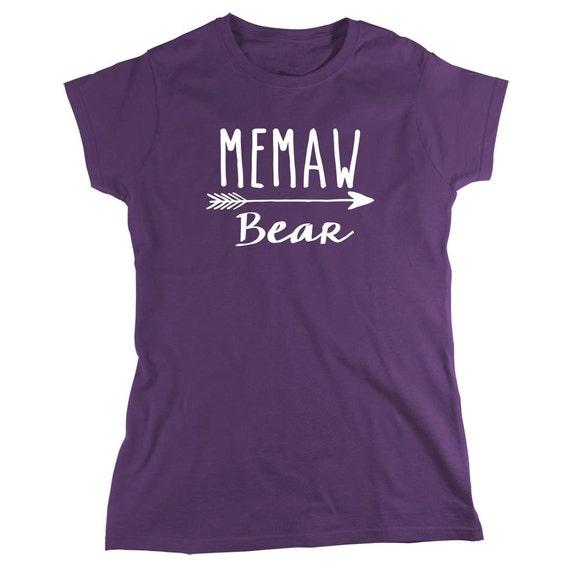 Memaw Bear Shirt - new grandma, new baby, gift for memaw, mother's day gift - ID: 1912