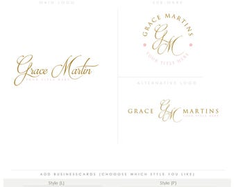 signature feminine emblem brand identity ready Photography Logo Watermark elegant luxury photography logo children Calligraphy businesscard