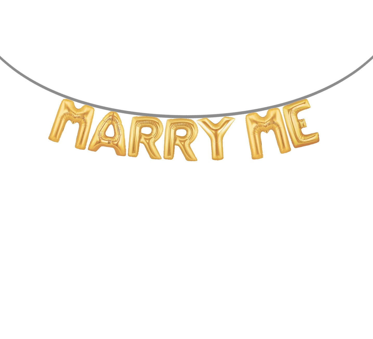 Balloon Banner Proposal Banner Engagement Party Banner MARRY ME – Party Proposal