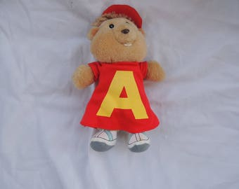 """Vintage 1987 """"Alvin"""" from Alvin and the Chipmunks 8 inch plush"""