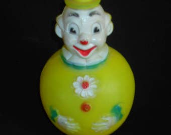 Vintage Regal Canada Circus Clown Roly Poly Musical  Toy