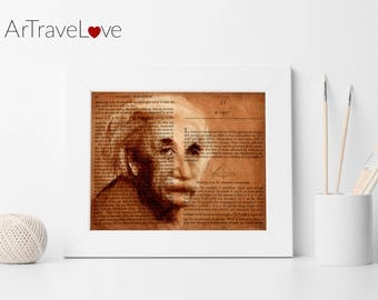 Einstein Book Page Art Print 10x8""