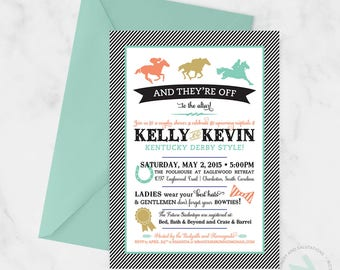 Derby Themed Invitation - Digital or Printed