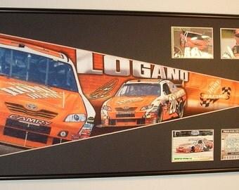 NASCAR driver #20, Joey Logano, Home Depot pennant & cards...Custom Framed!