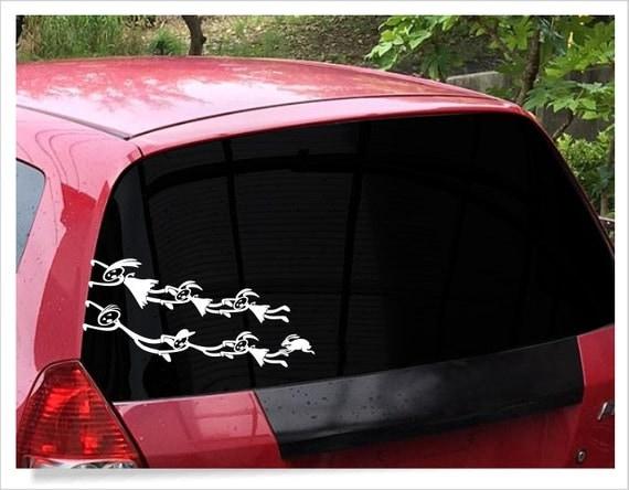 Funny Stick Figure Family Decal Unique Family Car Window - Unique car window decals