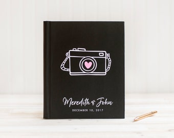 Wedding Photo Album Lay Flat Wedding Guest Book Wedding Guestbook Wedding Photo Book Guest Sign in Book Cardstock Pages Wedding Planner Book