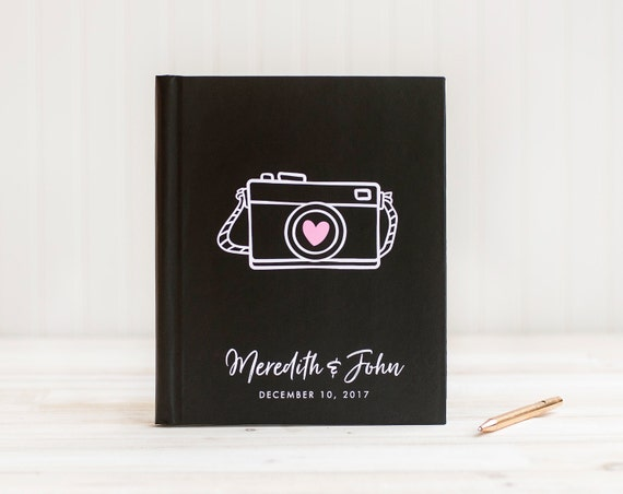 Wedding Guest Book Lay Flat Wedding Guestbook Wedding Photo Book Guest Sign in Book Wedding Photo Album Cardstock Pages Photo Guest Book