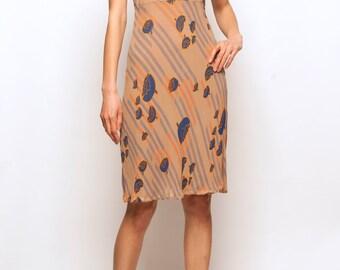 1940-1950's silk flower motif day dress