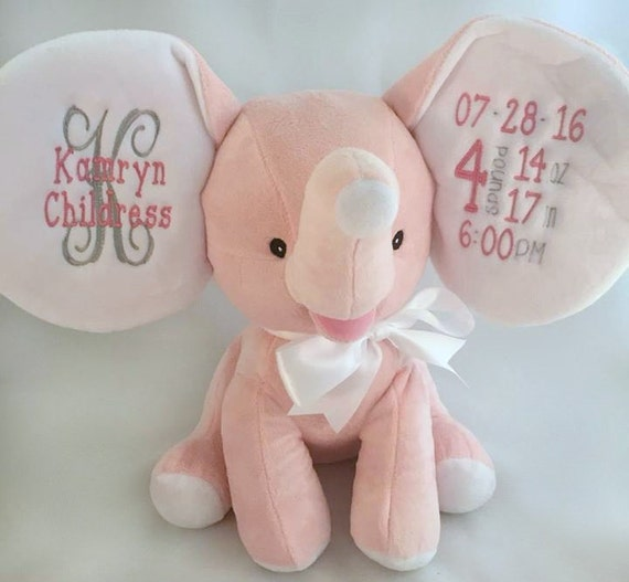 Personalized Stuffed Animal Birth Announcement Stuffed
