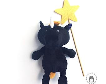 Unicorn plush toy, fantasy soft toy, unicorn girl nursery gift, cute unicorn gifts, woodland soft toy, stuffed animal, kids soft toys,