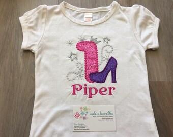 Stiletto posh princess birthday shirt