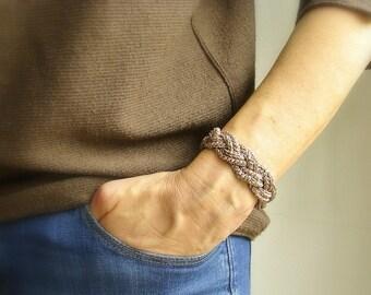 Knot bracelet ecofriendly | sailor knot cuff | crochet woven bracelet | nautical jewelry | Turk's head | woggle