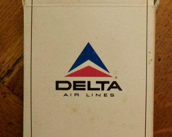 Vintage Delta Airlines Playing Cards - Picture of Jefferson Memorial and Cherry Blossoms