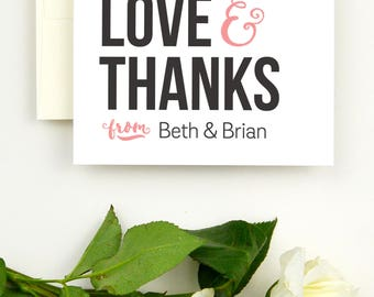 Wedding Thank You Cards - Wedding Thank You Notes - Thank You Cards Wedding - Wedding Thank You Note Cards - Printed Wedding Thank You Cards
